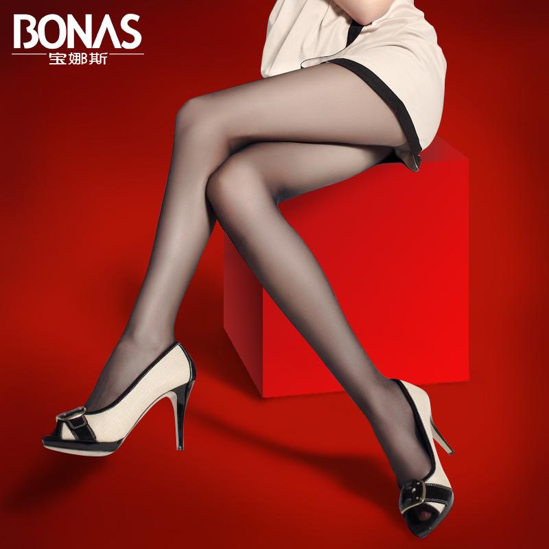 宝娜斯薄款春夏丝袜超薄长筒连裤袜打底女袜批发性感黑丝防勾丝
