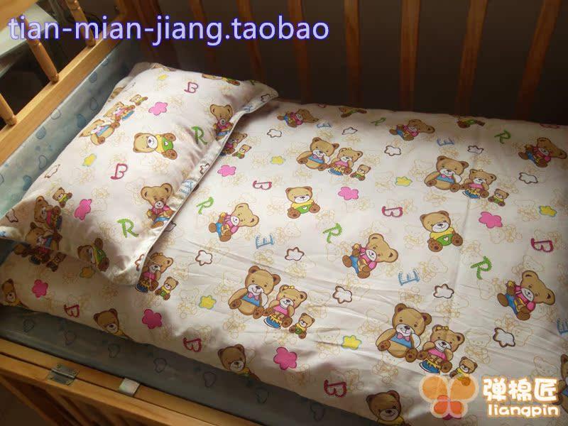 订做卡通纯棉儿童被套褥套枕套 宝宝小被罩 幼儿园三件套全棉床单