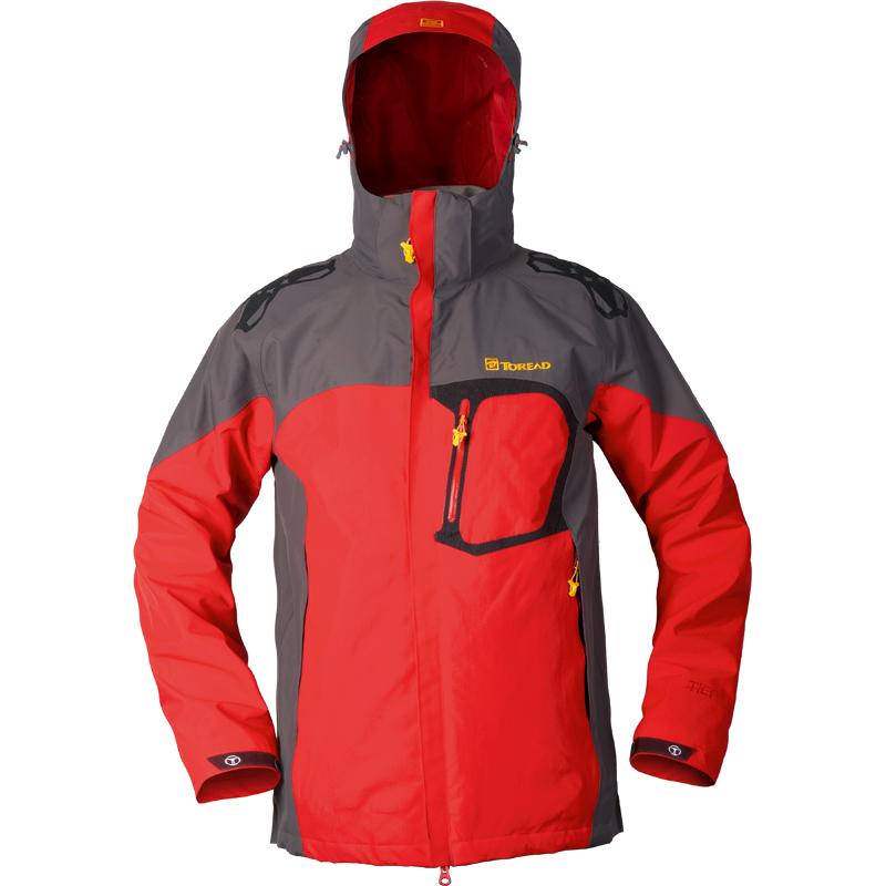 探路者秋冬新款男子户外三合一套绒复合弹力冲锋衣TAWB91112壹