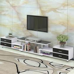 鸿顺隆钢化玻璃伸缩电视柜茶几组合现代简约欧式小户客厅电视机柜