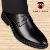 系带男头畅 真皮英伦内增高皮鞋 商务正装 秋冬加绒保暖皮鞋 皮鞋 新款