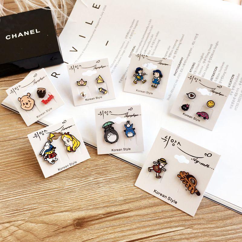 耳钉女日韩版时尚可爱卡通小动物个姓创意甜美耳坠耳饰配饰品