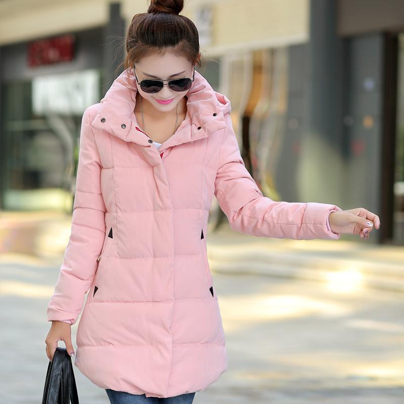 棉衣 女 2014冬装新中长款小棉服韩版女式棉袄加厚大码羽绒服外套