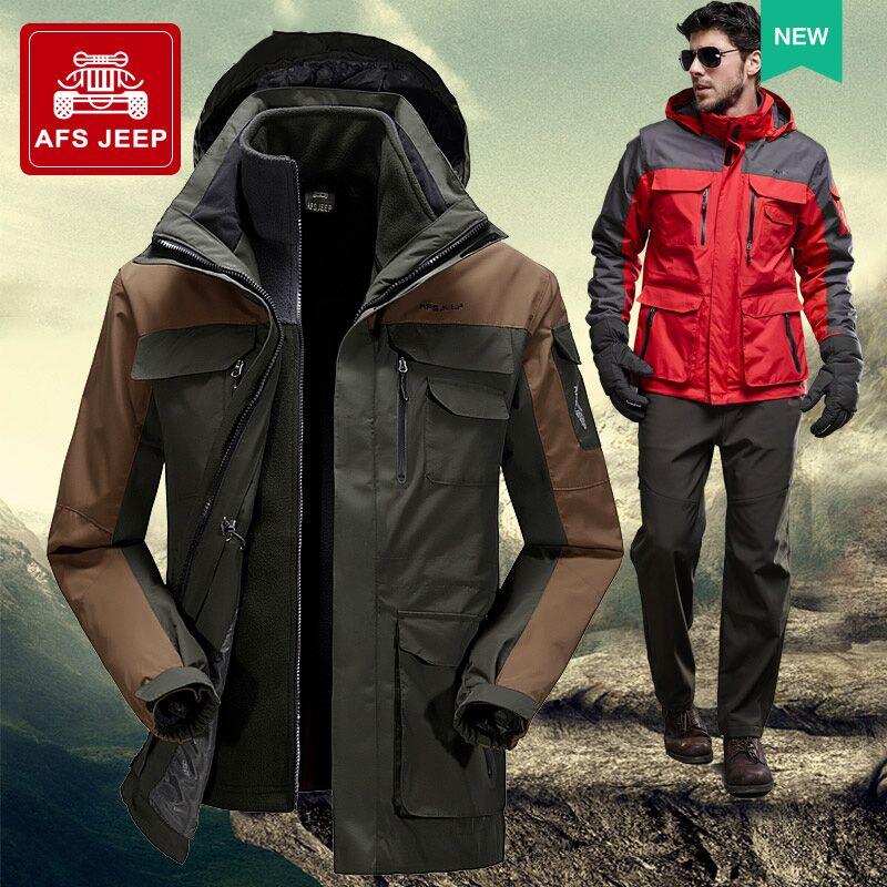 冲锋户外 外套春秋登山衣服休闲青年防水两件套 AFS