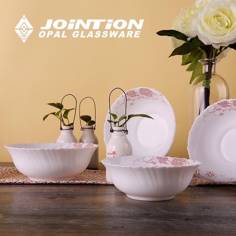 特价 碗餐具套装 4头创意花边斗碗汤碗 非陶瓷碗韩式大号汤碗面碗