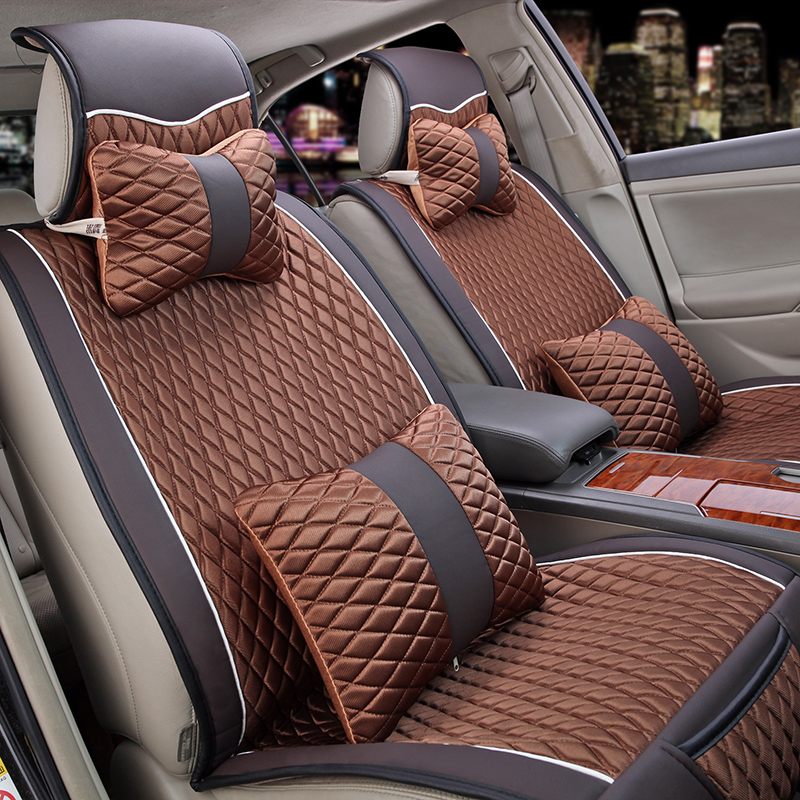 汽车坐垫 新款免绑汽车座垫冬季四季通用 车垫套 毛绒汽车用品