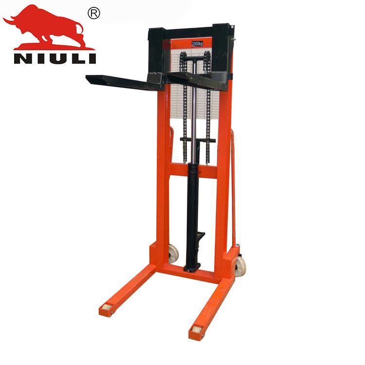 牛力叉车 手动液压堆高车 升高车 载重2吨升高1.6米 工字钢 正品