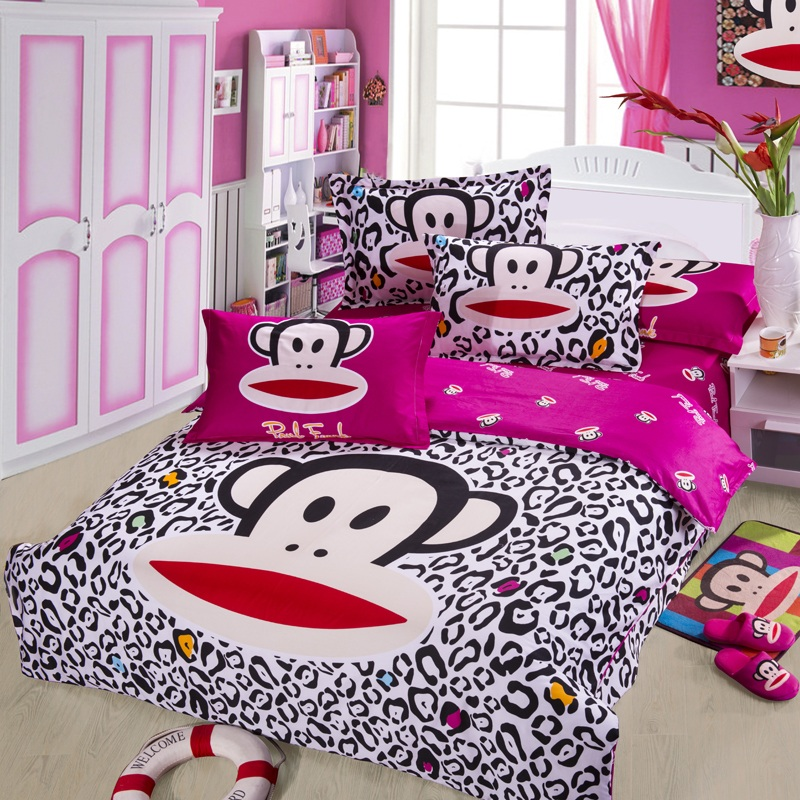 四件套 纯棉可爱卡通四件套 个性婚庆床单被套床单式特价包邮