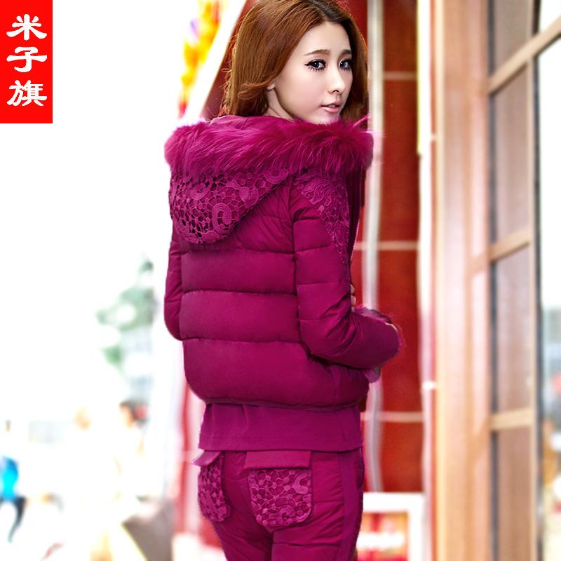 2014新款棉服加绒卫衣三件套女秋冬季加厚大码运动服女运动套装女