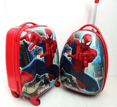 16寸男女蓝色儿童拉杆箱行李箱万向轮韩国正品旅行箱包超凡蜘蛛侠