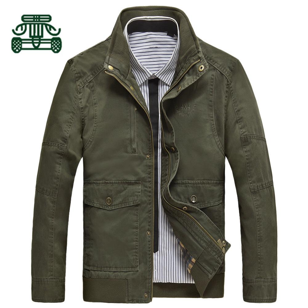 2014男式春秋装夹克衫AFS JEEP立领水洗加厚休闲外套正品特价男装