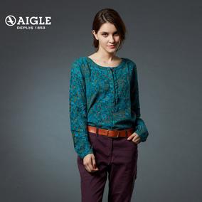 【限时特惠】AIGLE 艾高女士套头长袖衬衫印花休闲衬衫Macatty Pr