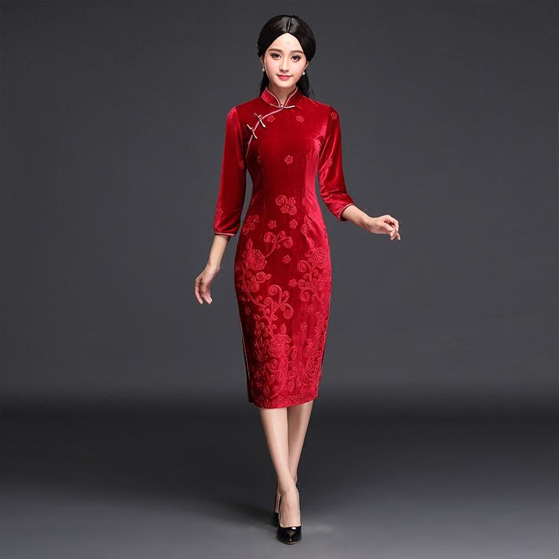 正品[视频时装表演视频]中国旗袍时装秀v正品评机旗袍枪图片