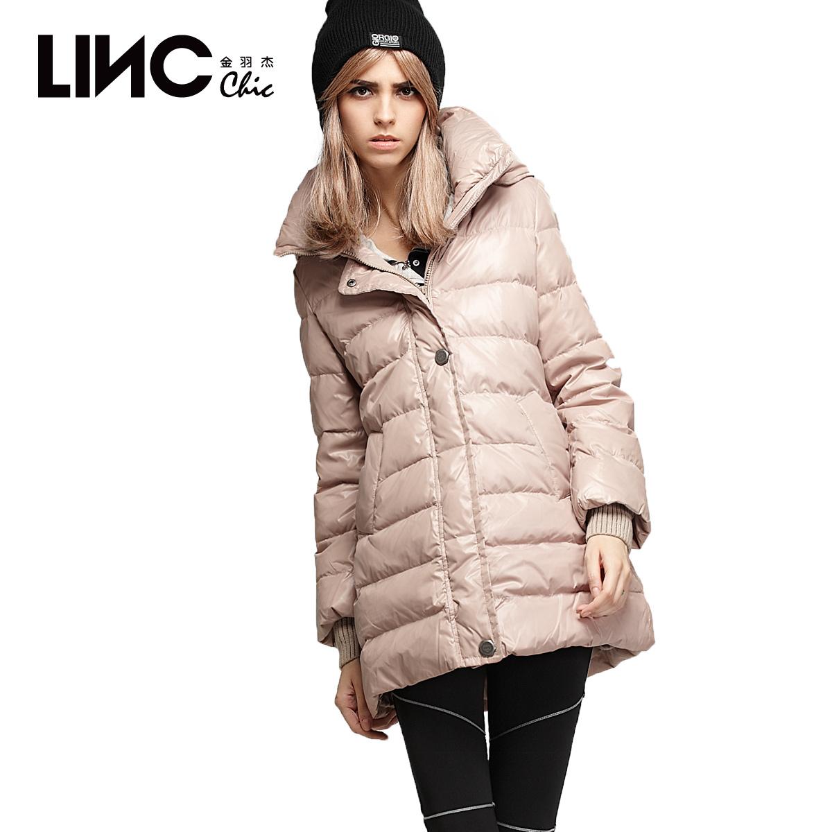 金羽杰2014韩版羽绒服 女冬装中长款 A字斗篷型羽绒外套加厚68561