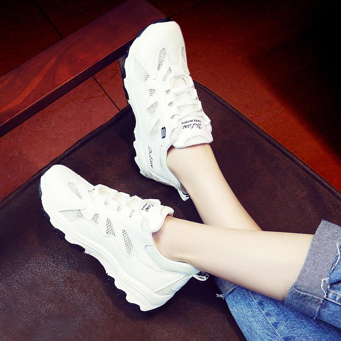 小白鞋夏季鞋女网面学生透气跑步运动鞋休闲