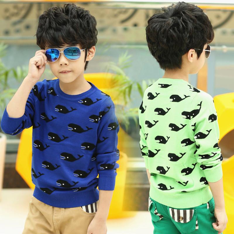 2014秋季新款 男童宝宝海豚毛衣针织线衫