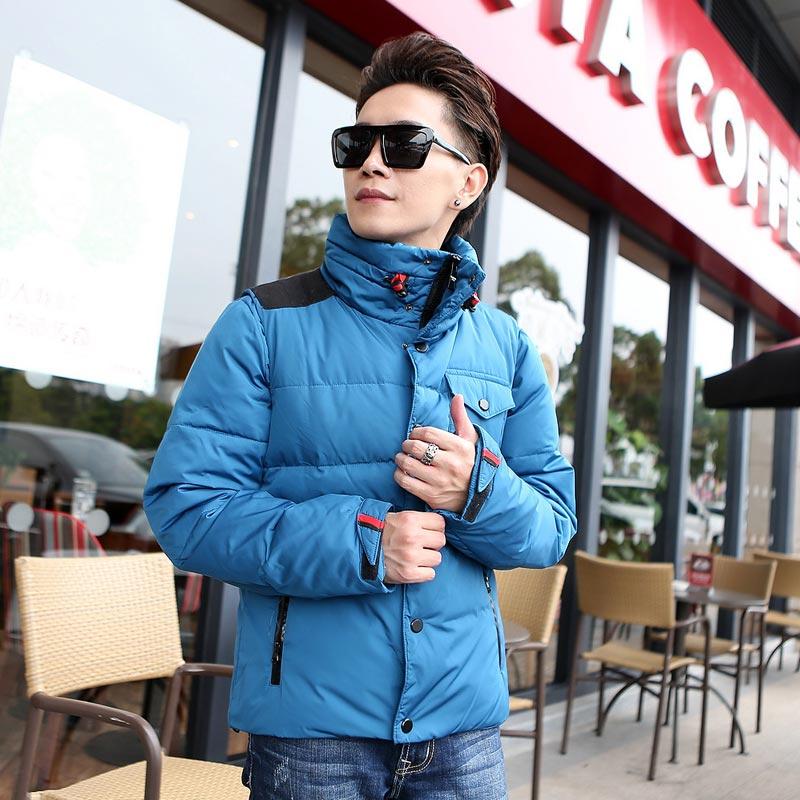 2014男装冬美特斯邦威羽绒服男士韩版短款青年羽绒修身立领外套潮