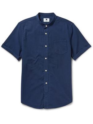 6折英国代购2015 NN.07 男士Samuel 修身磨毛棉质衬衫