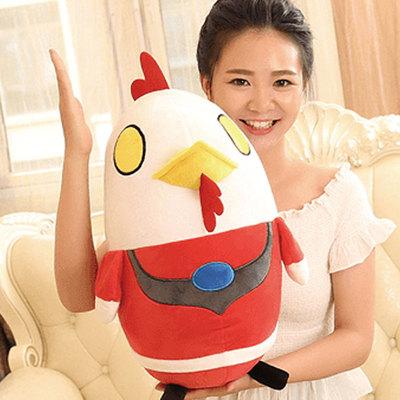 鸡年吉祥物公仔毛绒玩具花布鸡公仔布艺鸡生肖鸡玩具小鸡玩偶公仔