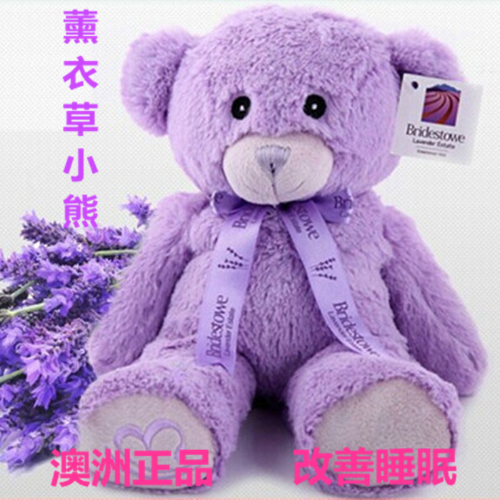 薰衣草小熊娃娃送女生日礼物元旦礼物 泰迪熊抱抱熊 充电暖手
