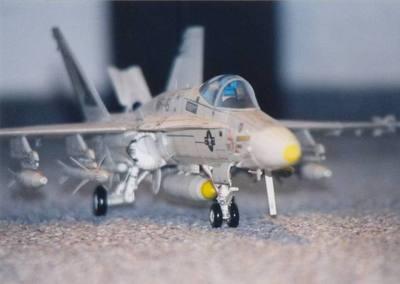 美国f/a-18战斗飞机3d纸模型diy手工制作图纸超清彩色激光打印