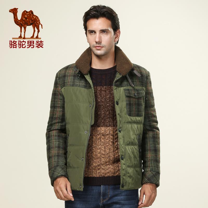 骆驼男装 2014新款男士立领时尚棉衣 商务休闲棉服男