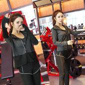 健身服女三件套 健身房跑步服运动裤 专业显瘦瑜伽服套装秋冬