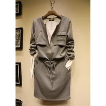连衣裙两件套女 女装 新款 纯棉加绒中长款 韩国东大门代购 2017春装