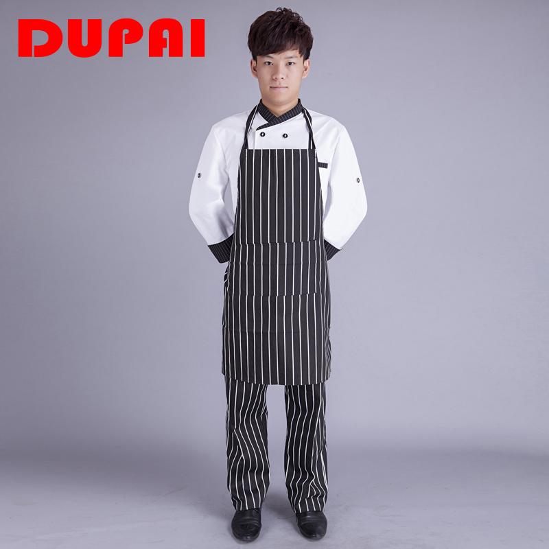 笃派厨房清洁广告围裙男女韩版时尚服务员餐厅厨师挂脖围裙批发