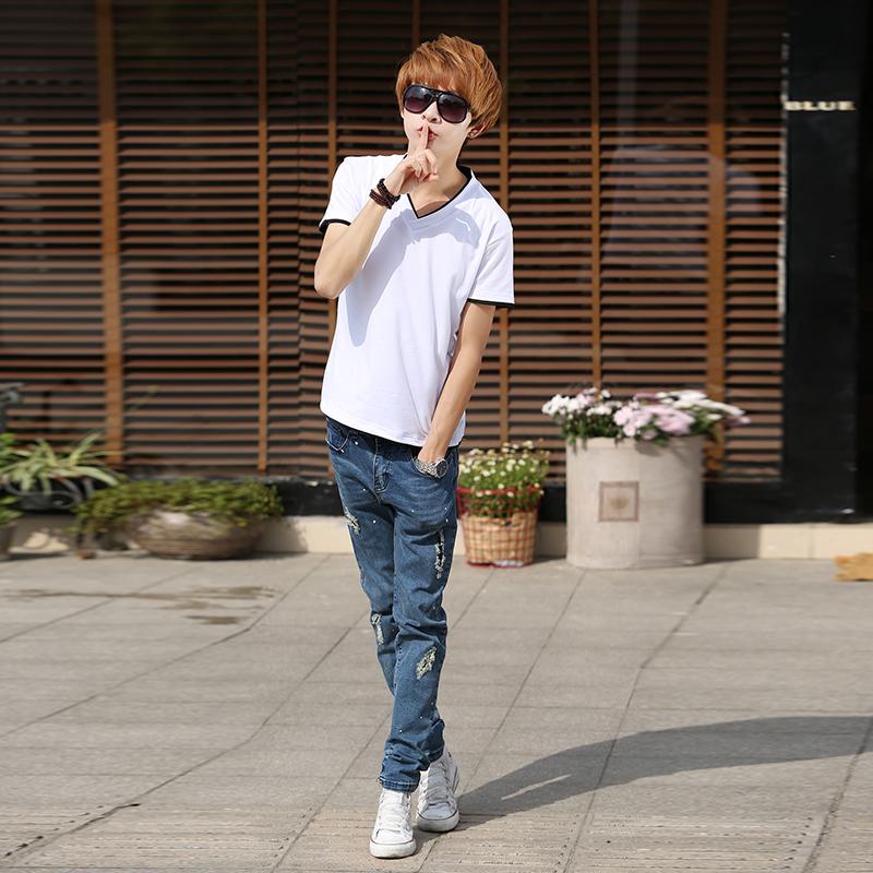 2014夏装男士t恤 林弯弯短袖t恤男装短袖韩版修身t恤男半截袖包邮