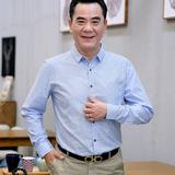 2017新款夏季薄款中年40-50岁爸爸装衬衣中老年衣服秋男长袖衬衫