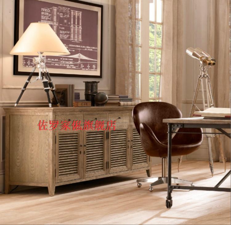 美式乡村实木边柜储物柜餐厅餐边柜法式休闲家具橱柜定制欧式法式