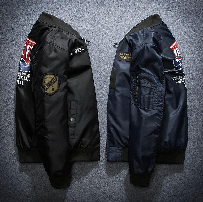 外套空军飞行员加大夹克秋冬休闲棒球棉衣