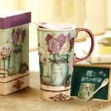 手绘陶瓷杯礼盒装