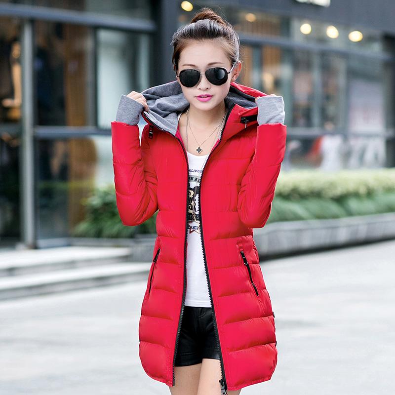 2014年新款淑女韩版羽绒服轻薄中长款加厚修身显瘦羽绒服特价
