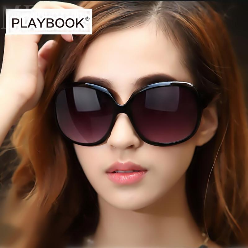 正品女士太阳镜偏光大框墨镜女圆脸韩版复古防紫外线太阳眼镜 潮