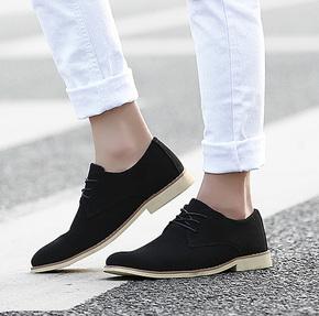 2015夏季透气男鞋男士休闲鞋商务尖头皮鞋磨砂潮流男鞋韩版潮鞋子