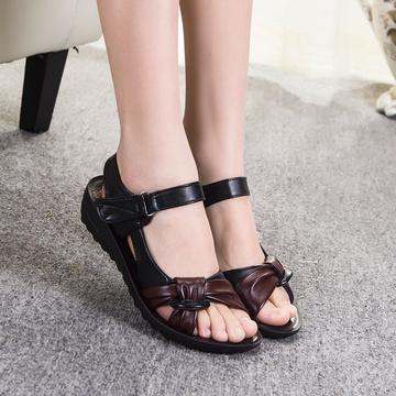 [卖家促销] 【天天特价】夏季免邮中年妈妈鞋凉鞋软底中老年平跟女士大码平底