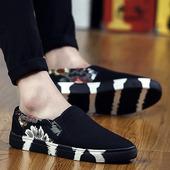 子一脚蹬懒人休闲老北京布鞋 豆豆男鞋 潮流男士 夏季潮鞋 帆布鞋 韩版