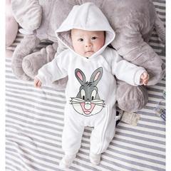 婴儿连体衣服女宝宝男新生儿春秋0岁3个月春夏装6百天1外出服套装
