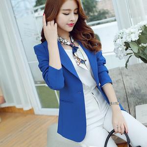彩黛妃2015秋冬新款时尚女式韩版小西装时尚长袖纯色外套R8048