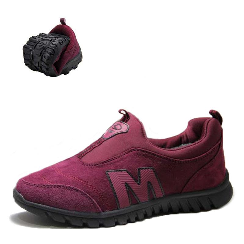荣仕冬季女鞋中老年保暖加绒运动棉鞋软底跑步鞋休闲鞋旅游鞋2328