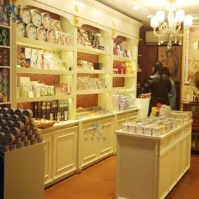 复古化妆品展示柜护肤品展柜欧式烤漆货架日化用品架