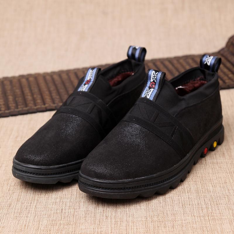 京特老北京布鞋冬季保暖男士布棉鞋中年鞋高帮男款休闲加绒爸爸鞋