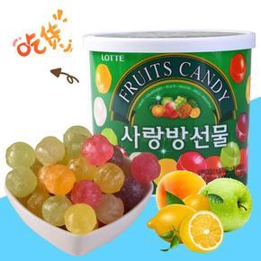 韩国进口糖果 LOTTE乐天七彩糖水果味爱情礼盒糖儿童水果硬糖187g