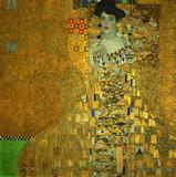欧式抽象人物客厅装饰画挂画布洛赫包尔太太人物油画克里姆特