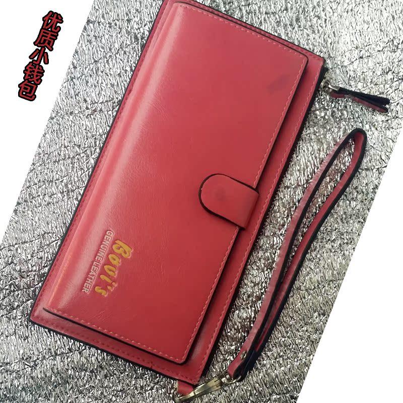 秋冬女士新款时尚钱包油皮零钱包卡包手机包多色正品包邮特价包