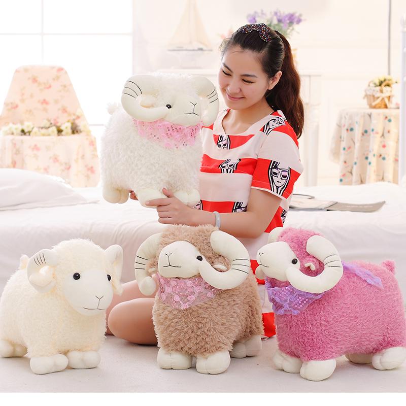 羊年吉祥物 可爱围巾小山羊公仔毛绒玩具小绵羊玩偶女生生日礼物
