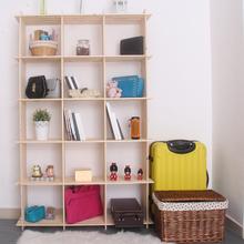 15格长方形多功能松木格架置物架客厅隔断展示架花架陈列架书架