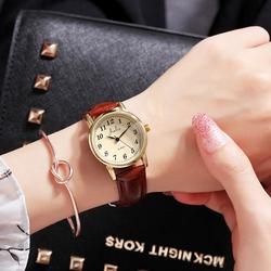 韩版简约数字皮带情侣手表时尚潮流女表休闲大气男表石英表学生表